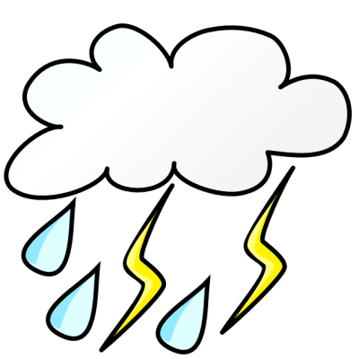 400x400 Rain Clipart Storm Cloud