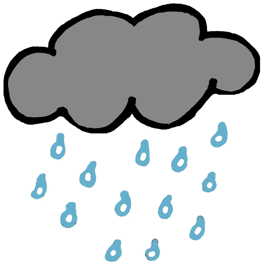 912x917 Rain Cloud Clipart