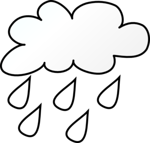 299x285 Raining Cloud Outlne Clip Art