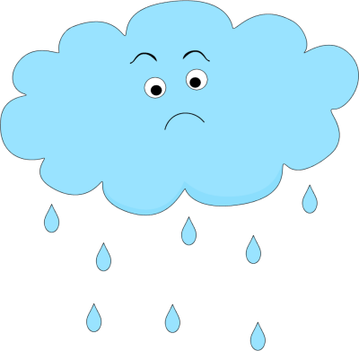 400x391 Sad Rain Cloud Clip Art