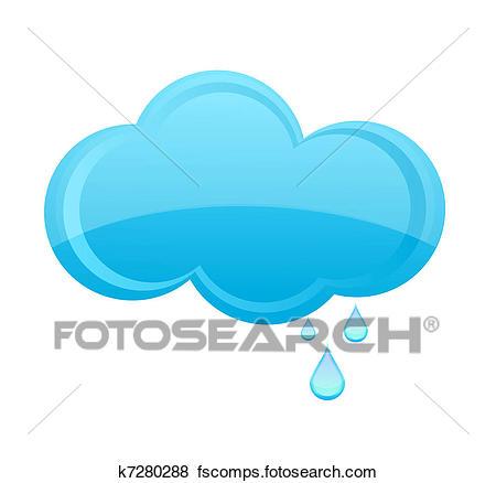 450x438 Clip Art Of Glass Rain Cloud Sign Blue Color K7280288