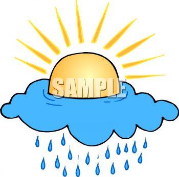 350x347 Royalty Free Clip Art Image Sun Shining Above A Raincloud