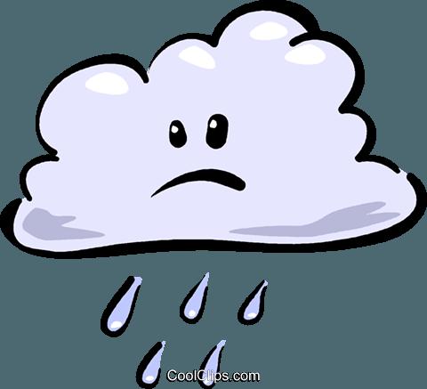 480x437 Rain Cloud Royalty Free Vector Clip Art Illustration Vc016114