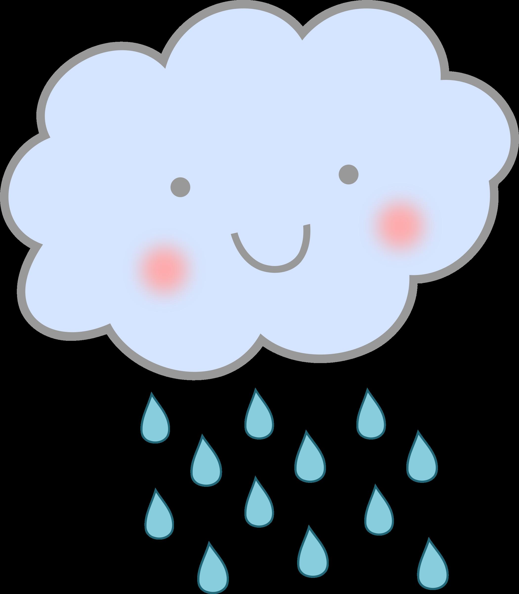 2100x2400 Clipart Cute Rain Cloud
