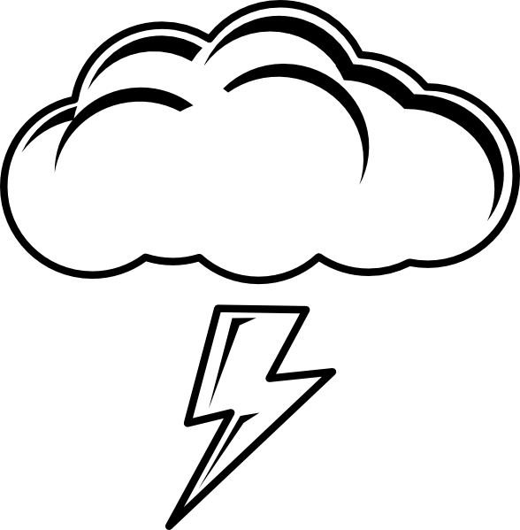588x599 Lightning Clouds Clipart