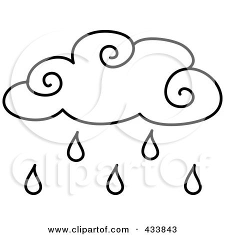 450x470 Rain Clipart Outline