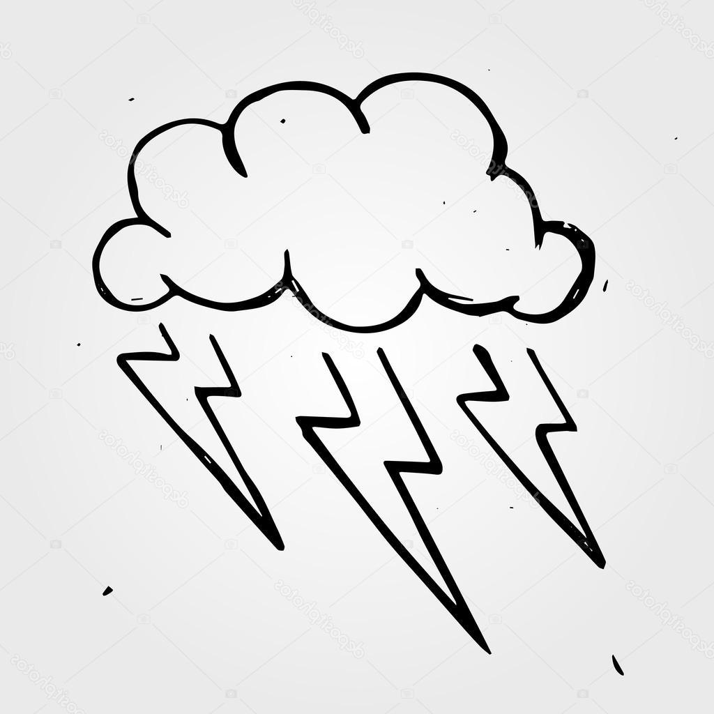 1024x1024 Top Storm Cloud Drawing Vector Images Free Vector Art, Images