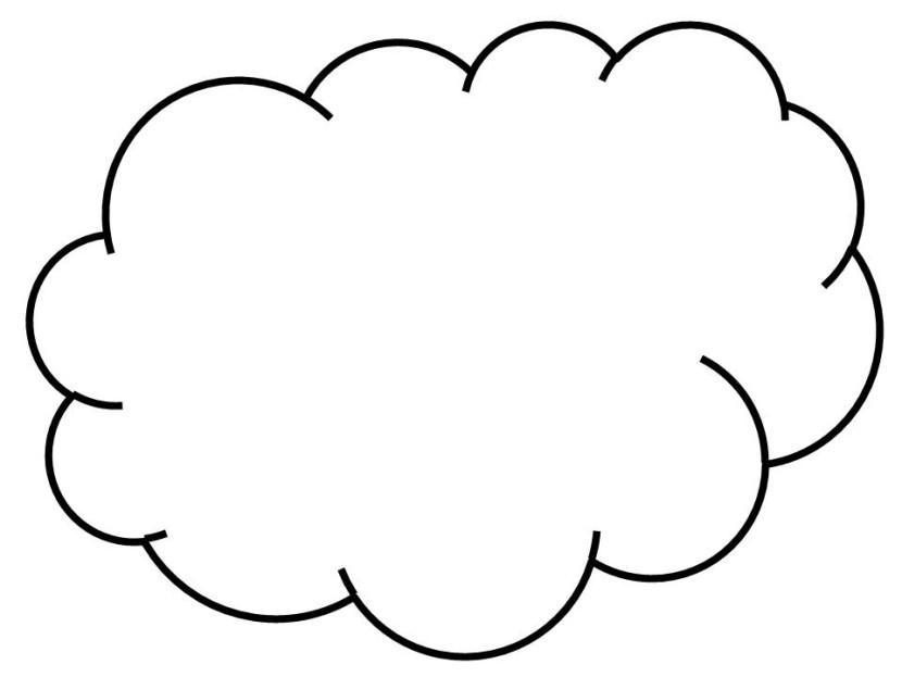 830x623 White Clipart Cloud