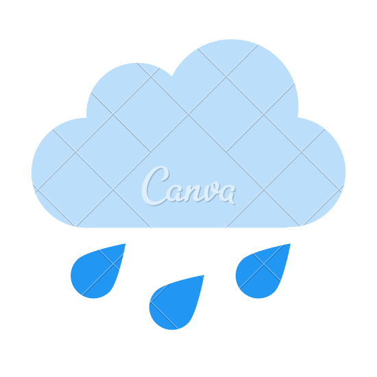 550x550 Rain Cloud Icon
