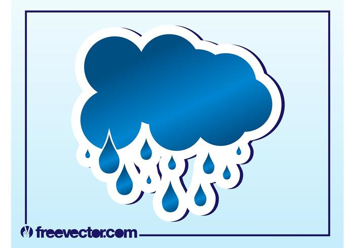 700x490 Rain Cloud Vector