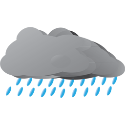 256x256 Rain Clipart Grey Cloud