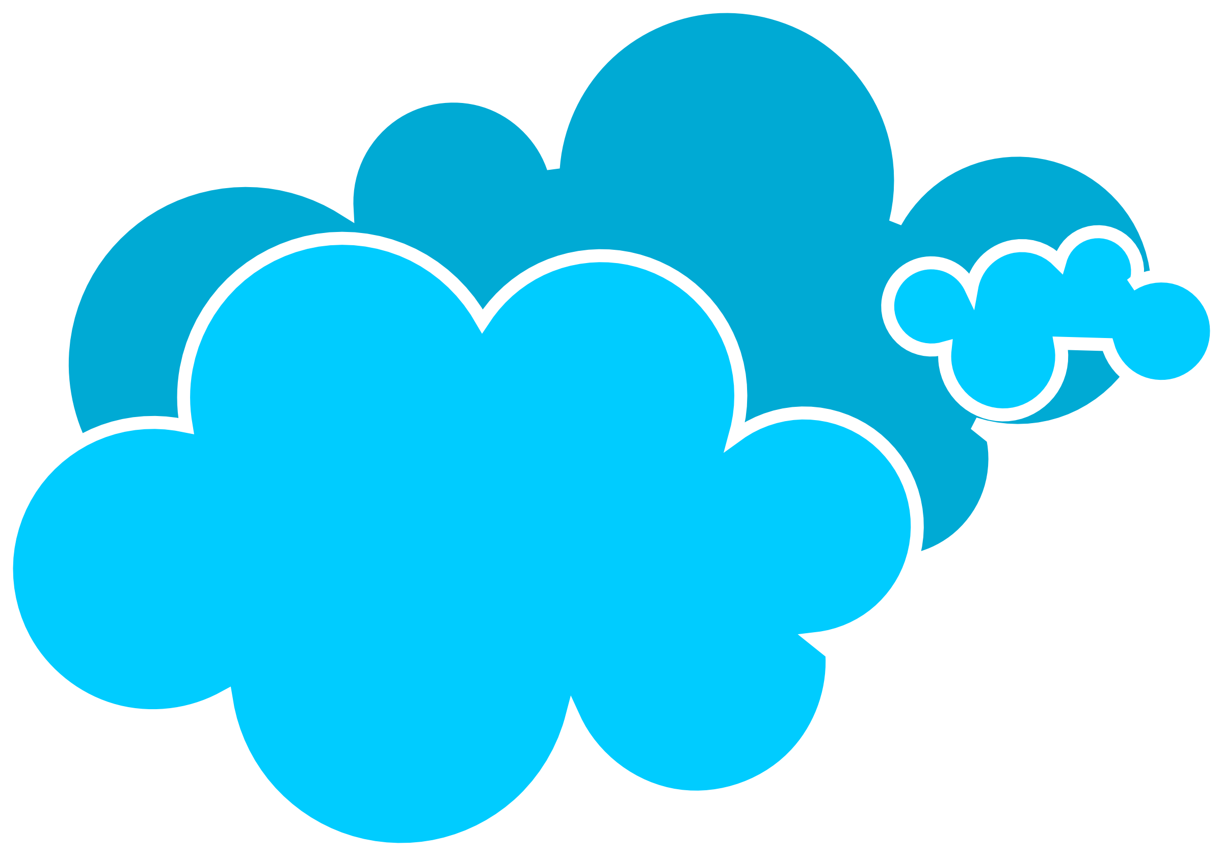 2400x1679 Rain Cloud Blue Cloud Clipart