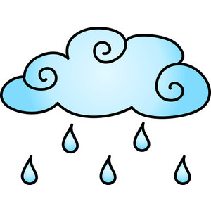 300x300 Rain Cloud Weather Clipart And Clipart Images
