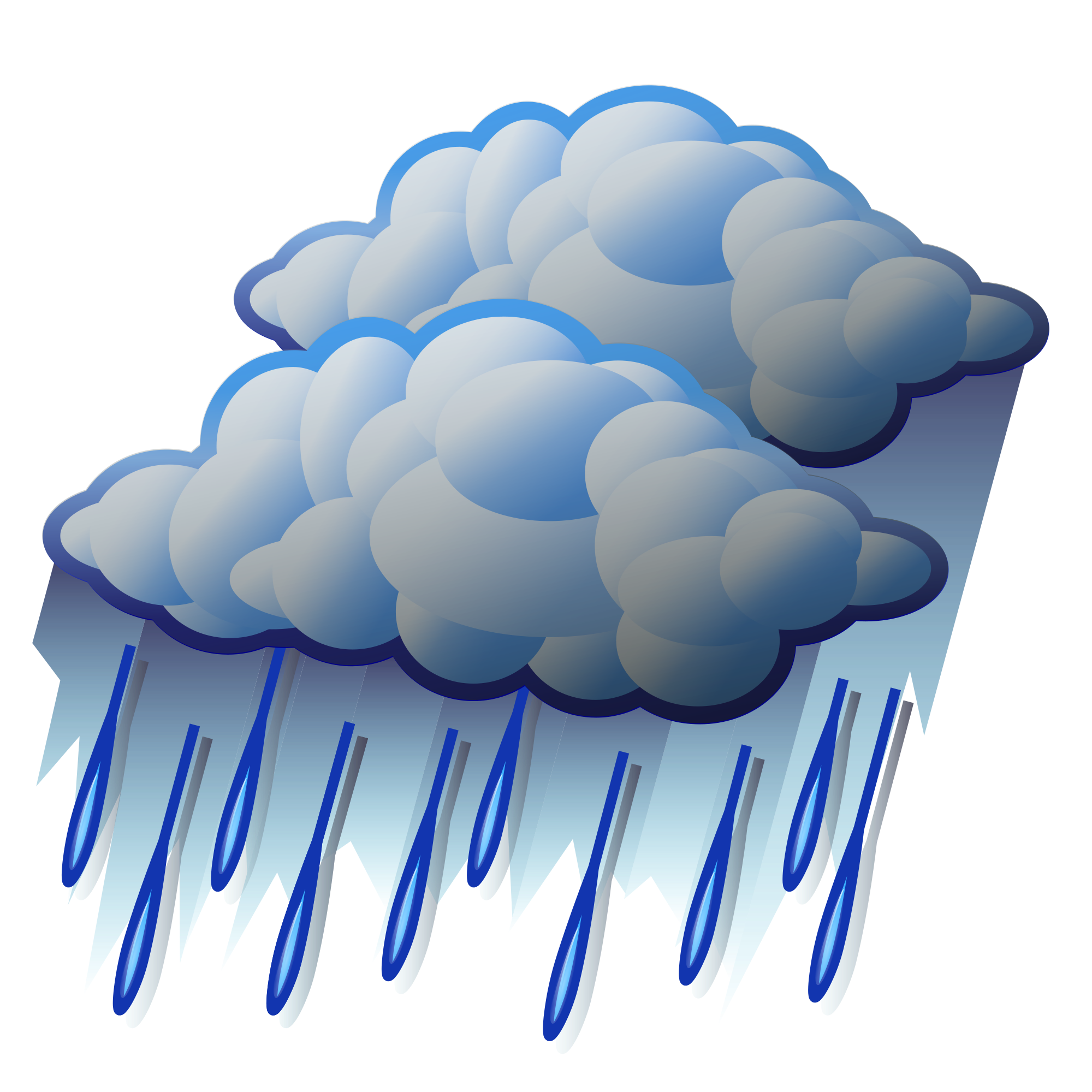 2000x2000 Raindrops Clipart Heavy Rain