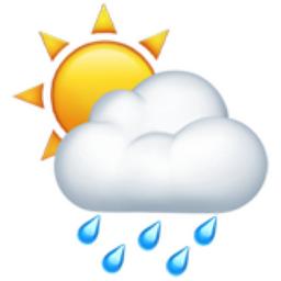 256x256 Sun Behind Rain Cloud Emoji U 1f326