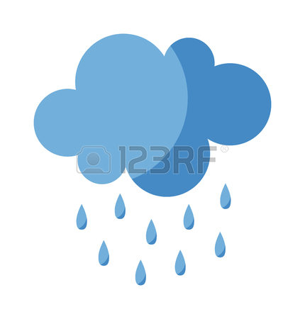430x450 Vector Illustration Of Cool Single Weather Rain Cloud Icon. Rain