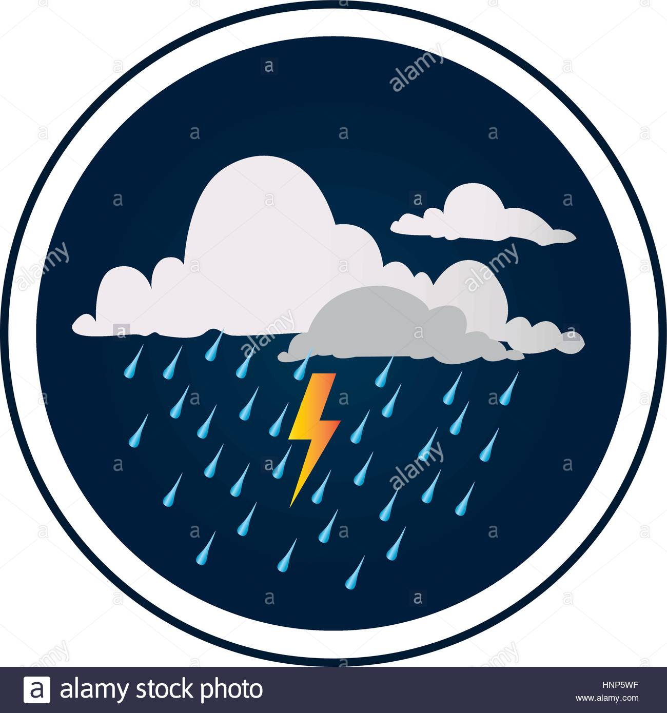 1300x1390 Circular Border With Background With Clouds With Rain And Thunder