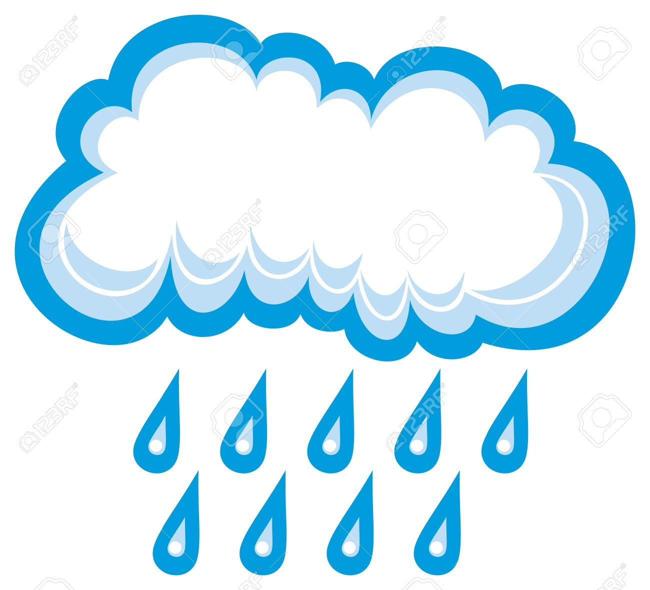 1300x1180 Cloud With Raindrops Clipart