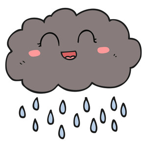 300x300 Freehand Drawn Cartoon Rain Cloud Royalty Free Stock Image