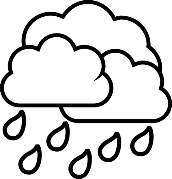 547x570 Cloud Black And White Rain Cloud Clipart Black And White