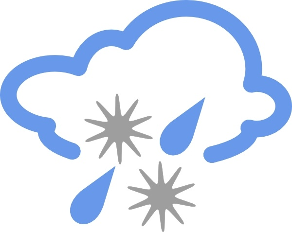 600x477 Hail And Rain Weather Symbol Clip Art Free Vector In Open Office