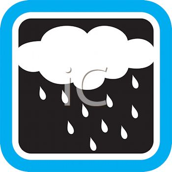350x350 Weather Icon Showing A Rain Cloud