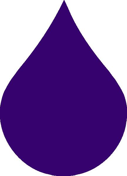 432x595 Purple Rain Drop Clip Art