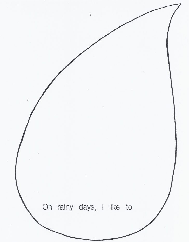728x932 Raindrop Template Printable Clip Art Rain Cloud Clipart Library