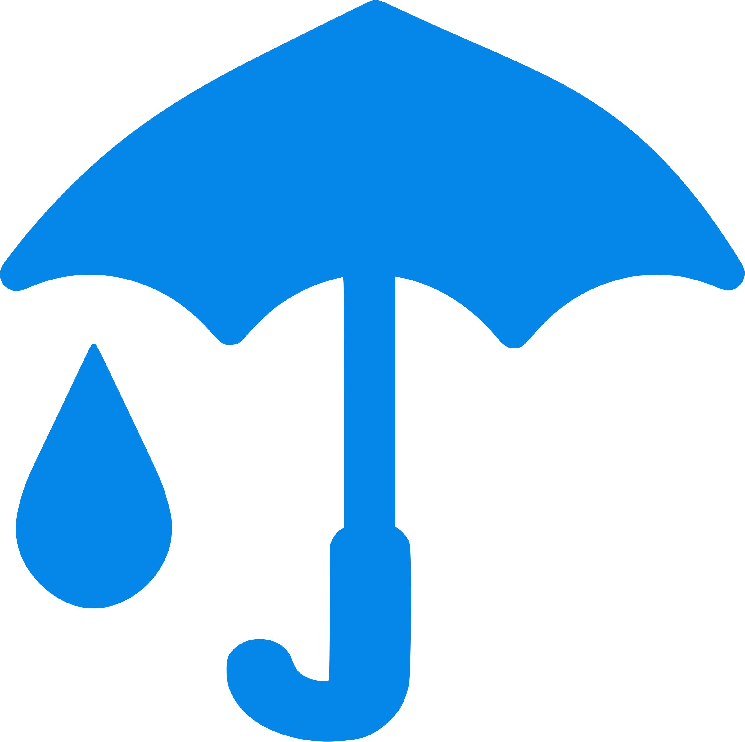 2400x2389 Clipart Blue Umbrella And Raindrop Icon