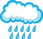 170x154 Clip Art Of Cloud And Rain K15339057