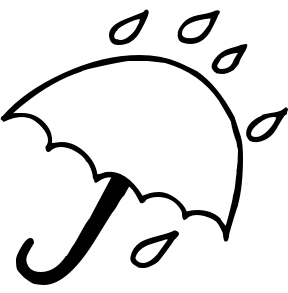 288x293 Umbrella With Raindrops Clipart