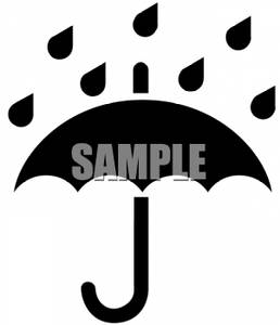 258x300 Of Raindrops On An Umbrella Clip Art Image