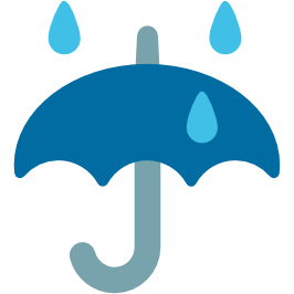 266x266 Emoji Android Umbrella With Rain Drops