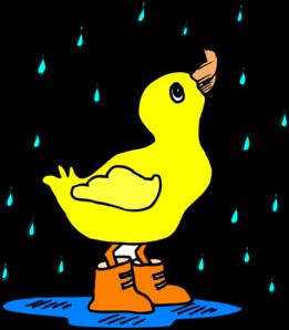 261x298 Duck In The Rain Clip Art