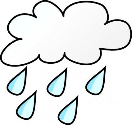 425x404 Rainy Clip Art, Vector Rainy