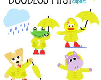 340x270 Rainy Day Clip Art Etsy