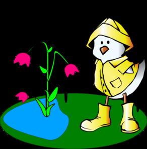 292x297 Rain Clipart Duck In Rain Coat And Boots Clip