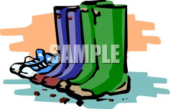 350x225 Royalty Free Clip Art Image Rain Boots