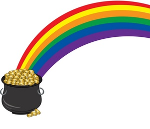 300x259 Pot Of Gold Clipart Image