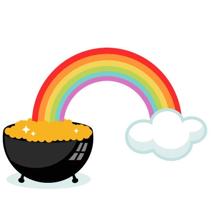 432x432 Pot Of Gold With Rainbow Svg Cutting Files For Scrapbooking Cute
