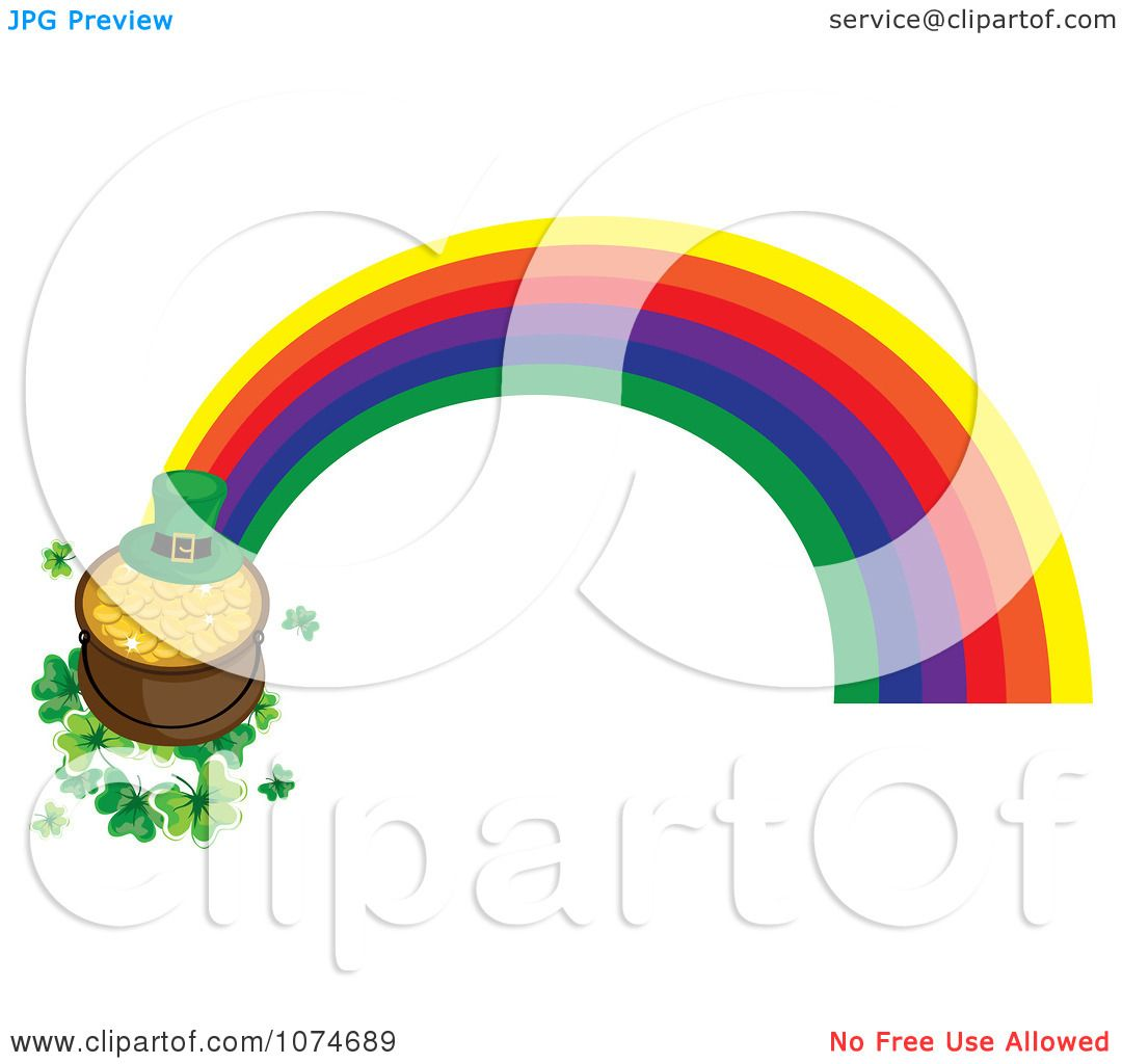1080x1024 Clipart Leprechaun Hat And Pot Gold On Shamrocks At The End