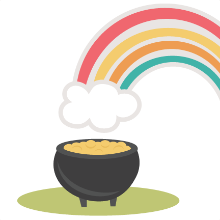 432x432 Rainbow With Pot Of Gold Svg Cutting File St. Patrick's Day Svg