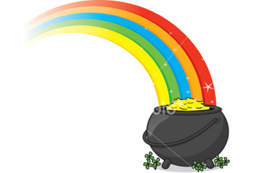 500x343 Rainbow Clipart Gold