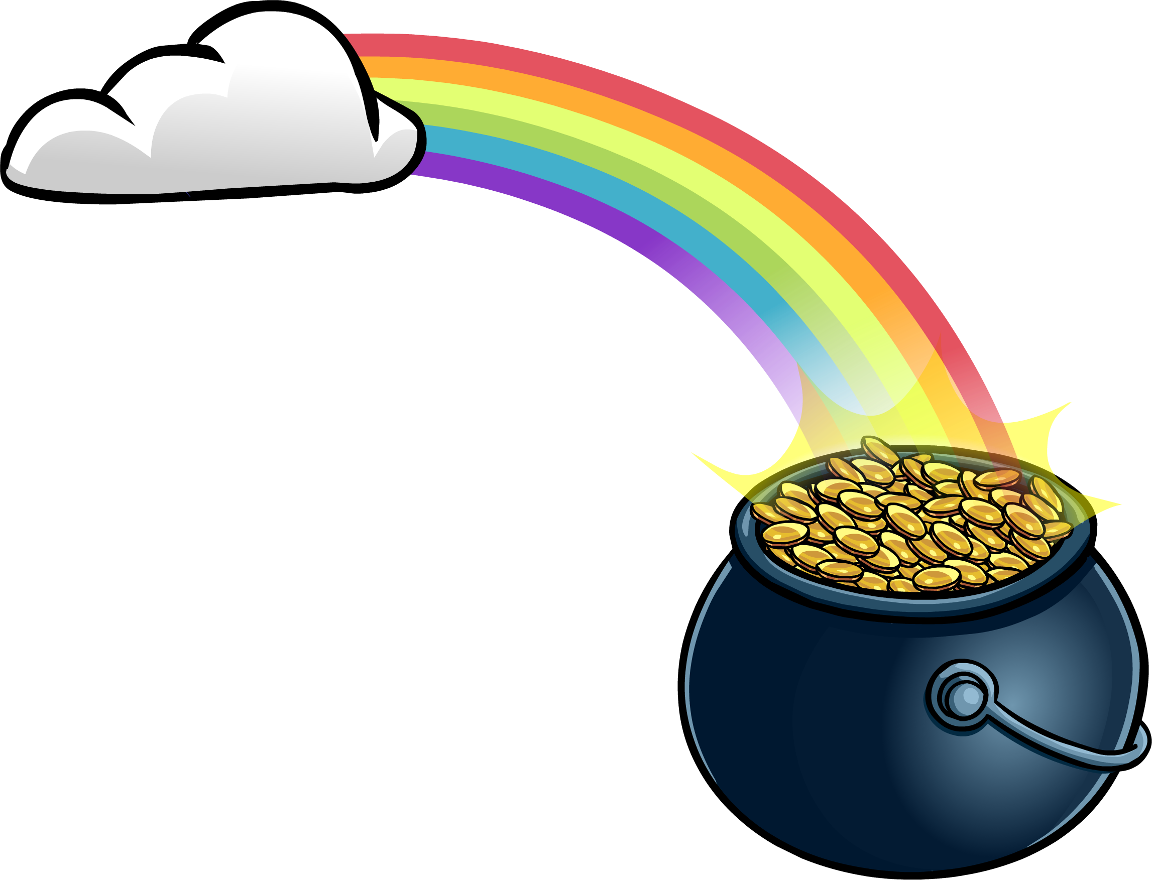 2294x1753 Rainbow With Pot O' Gold Club Penguin Wiki Fandom Powered By Wikia