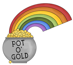 240x212 Gold Clipart Leprechaun Rainbow