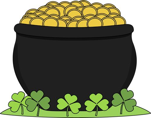 Rainbow And Pot Of Gold Clipart