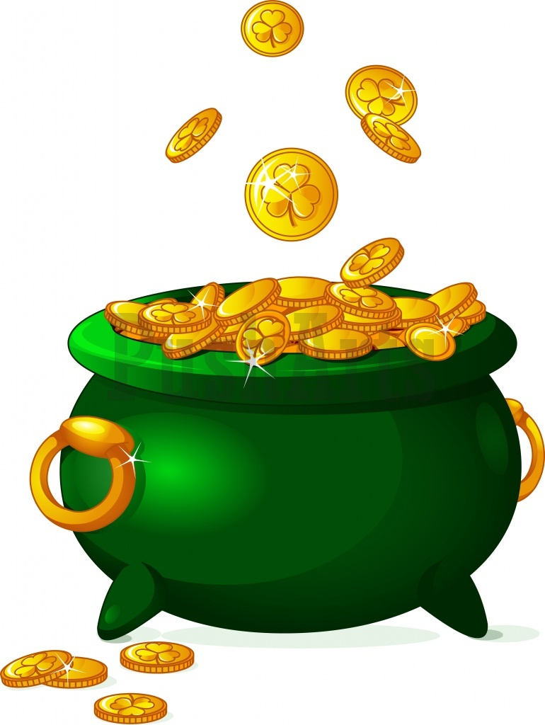 770x1024 Pot of gold clipart free download clip art on