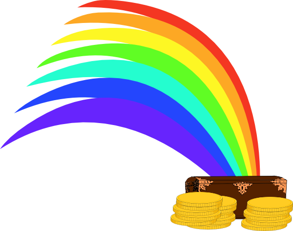 600x473 Rainbow clipart treasure