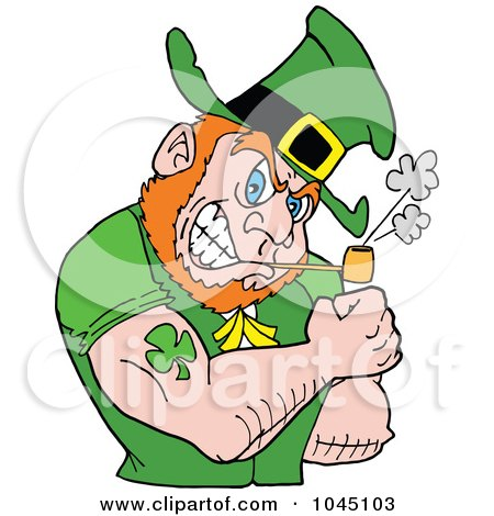 450x470 Royalty Free (Rf) Clip Art Illustration Of A Leprechaun Holding