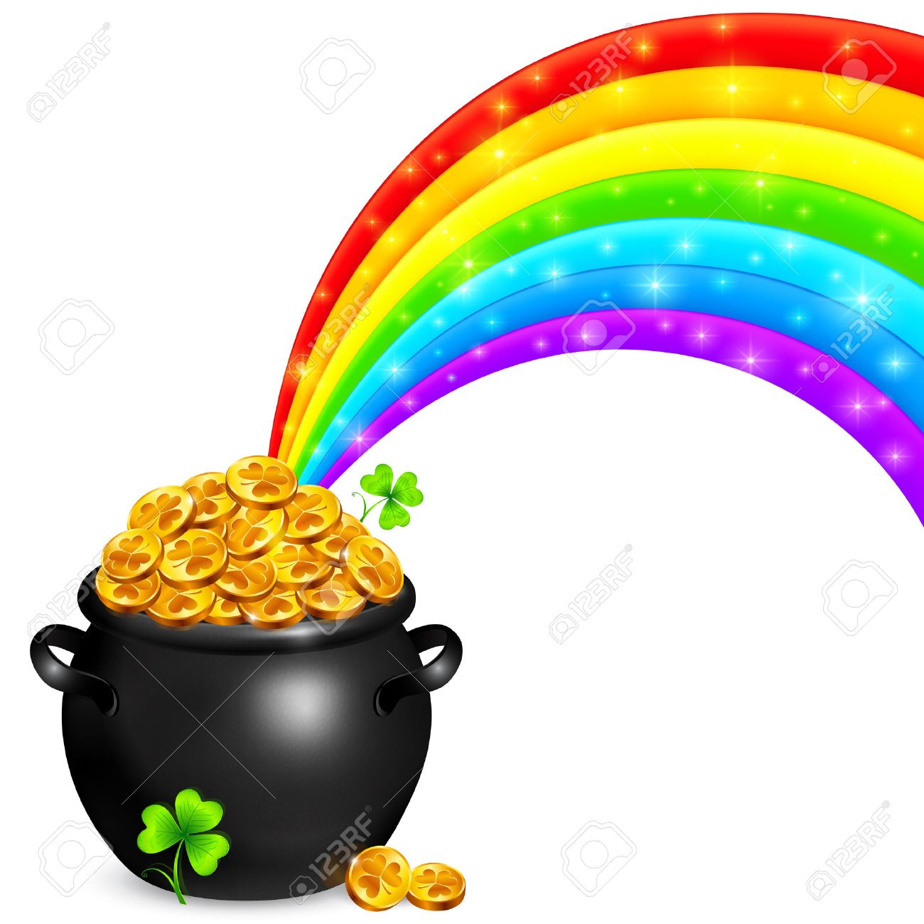 1300x1300 8,268 Pot Of Gold Stock Illustrations, Cliparts And Royalty Free